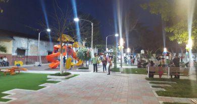 Parque público fue remodelado