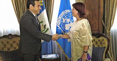 Unicef Guatemala con Presidente Jimmy Morales.