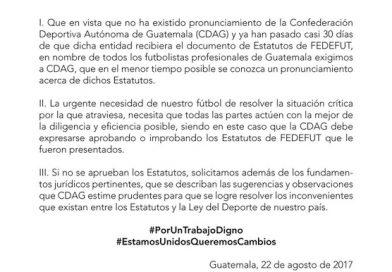 AFG exige un pronunciamiento de la CDAG