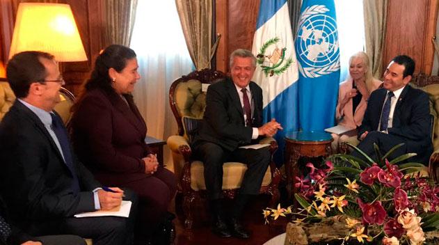 Presidente Morales y comisionado para los Refugiados conversan sobre migración