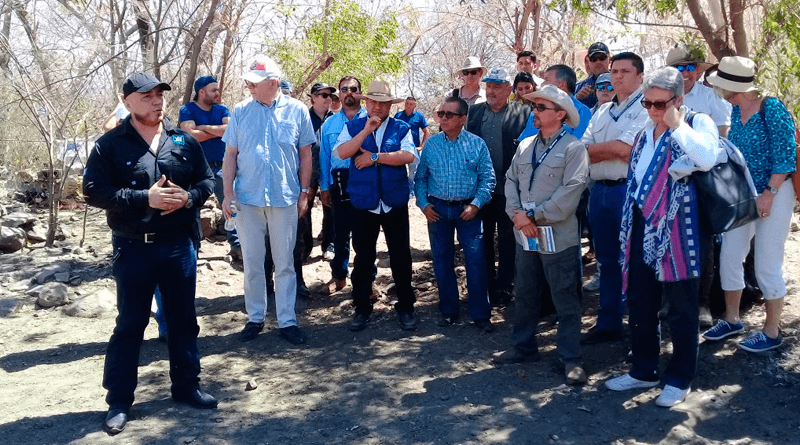Autoridades del MARN efectúan gira de trabajo en Jutiapa