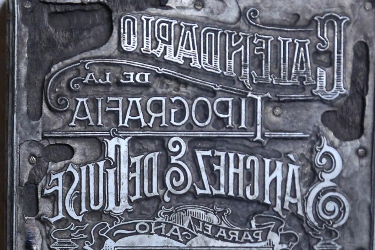 El antiguo arte del tipógrafo