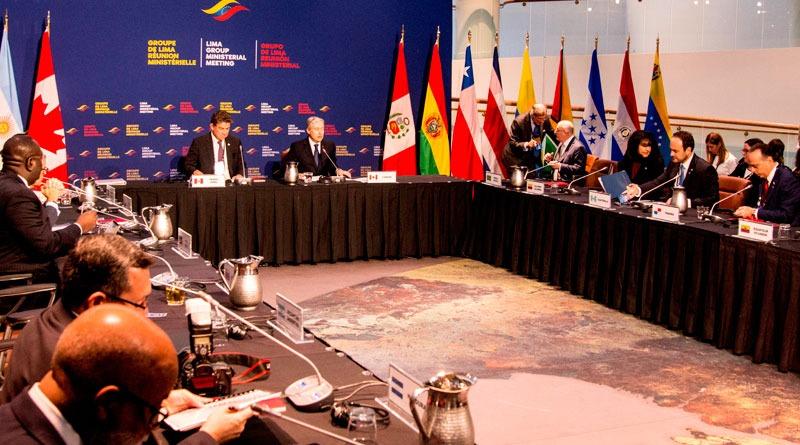 Grupo de Lima se reúne por crisis en Venezuela — Canadá